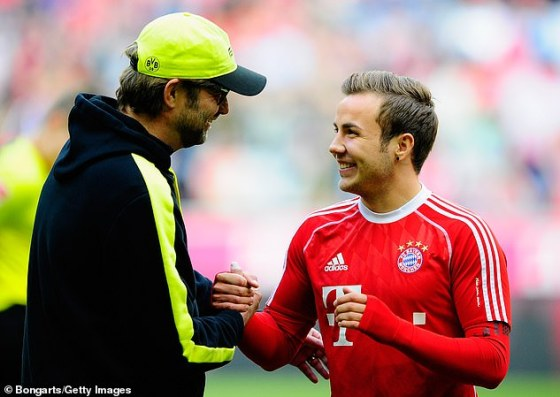 Mario Gotze (right) claims that this summer he was given the opportunity to return to Bayern Munich