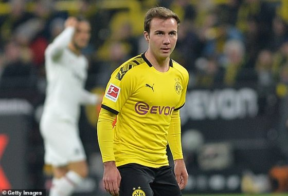 Gotze (above) was released by Borussia Dortmund this summer and joined PSV in the Netherlands