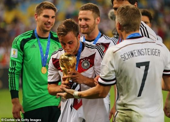 Gotze fell out of favor after achieving the final winner of the 2014 World Cup for Germany