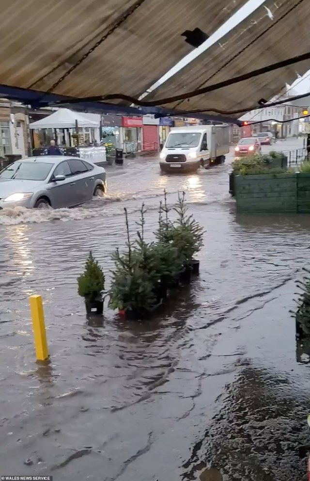 Flooding in Whitchurch Village in Cardiff after heavy rain overnight and this morning which come on the back of over 10 flood alerts and weather warnings across the country