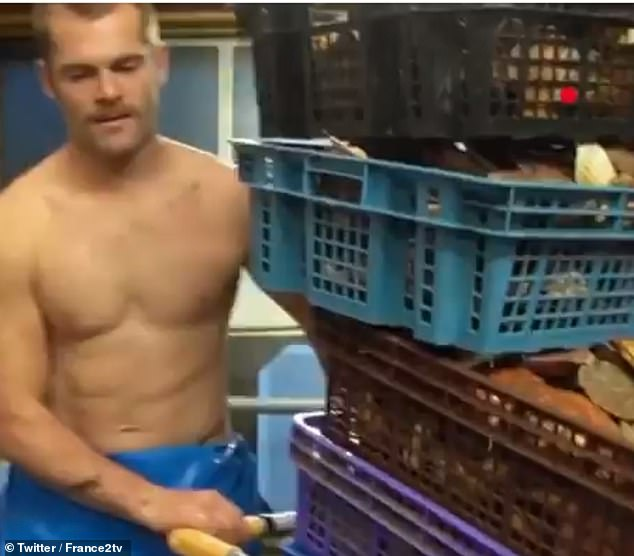 Frenchman Tomy, who fishes scallops sustainably, sent hearts racing after he appeared shirtless on national TV during public service channel France 2's lunchtime news