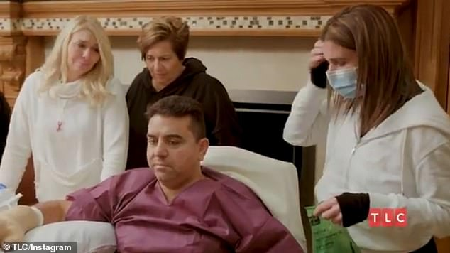 'There was a lot of blood': Buddy Valastro is seen returning home from the hospital after a freak bowling incident impaled his right hand in a sneak peek of Buddy Valastro: Road To Recovery