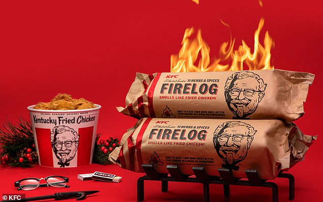 Last Christmas, the chain unveiled a yule log that smelled like its iconic 11 herbs and spices when you lit it ablaze