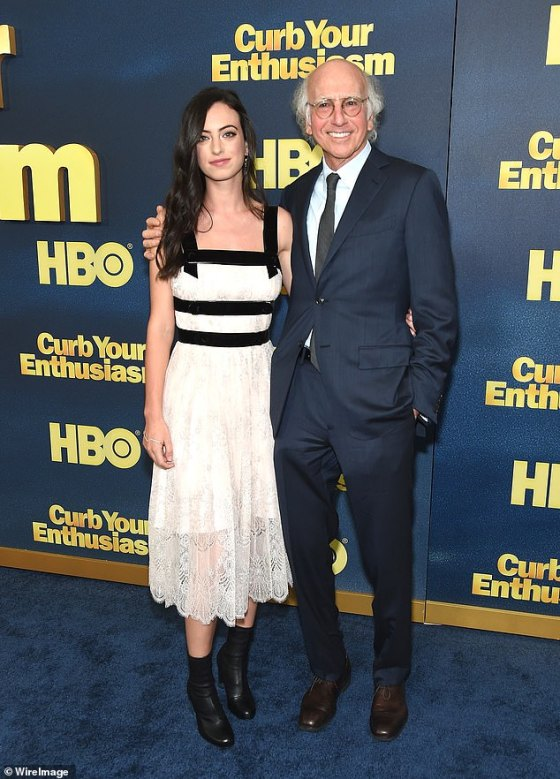 Close to Dad: Cazzie is the eldest daughter of comedy icon Larry David and his ex-wife Laurie David (pictured 2017)