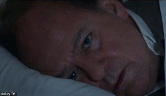 Mourning: Roald fell into a deep depression after Olivia's death, and in the trailer Patricia tells him, 'It's not just you who's lost.  We have to fix it, before it's so broken, we can't fix it anymore '