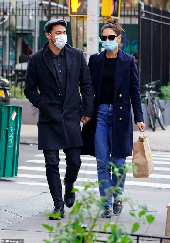 They do their thing: The couple have often been seen together in the city since they made their love debut in the fall