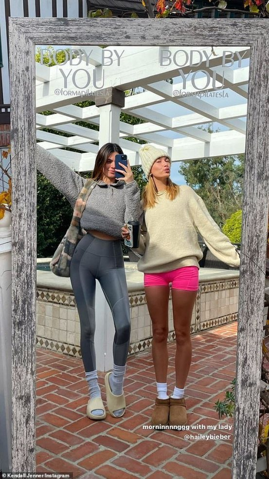 Hailey Bieber and best friend Kendall Jenner start the holidays with private Pilates