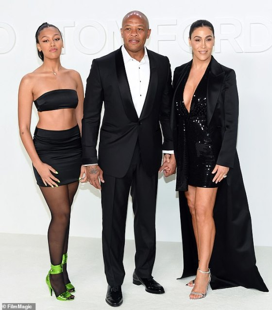 Disagreement: A statement Dre submitted from his certified public accountant claims that his ex only spends a still huge amount of $ 293,306 a month;  seen in February with daughter Truly Young (L)
