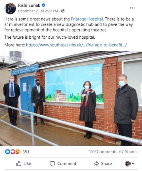 After arriving in Richmond, which is on the second level, he visited a local hospital on Monday - the same day that Tier 4 restrictions were extended to other parts of England