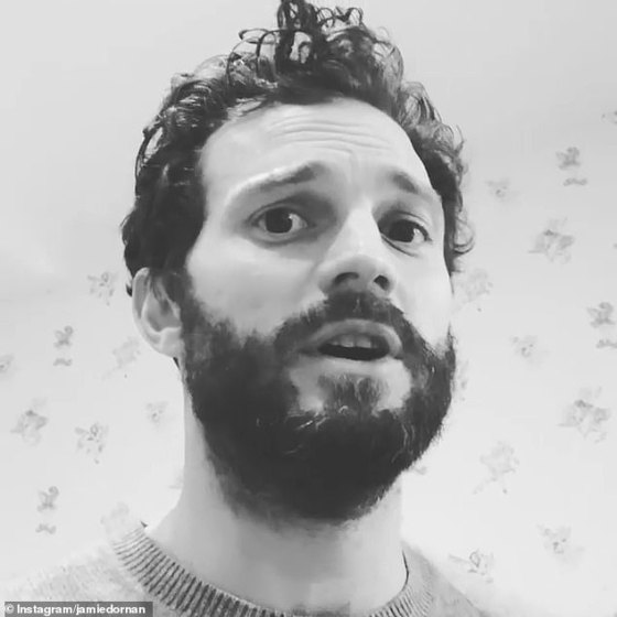 It's Christmas!  Jamie Dornan brought a festive joy to Instagram on Christmas Eve as he shared a hilarious video of him girding Bing Crosby's hit White Christmas