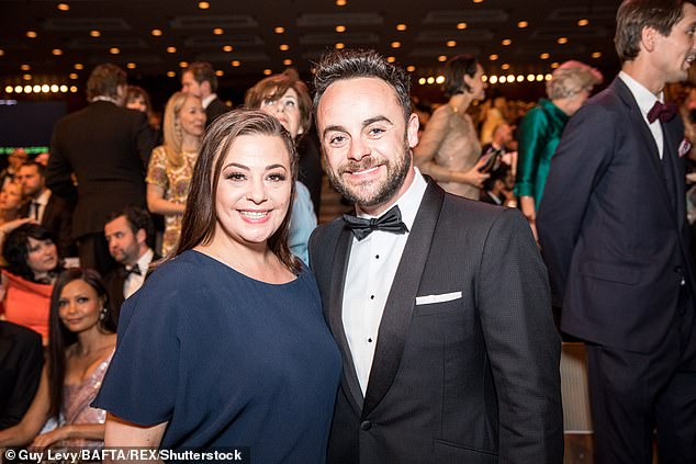 Split: Ant and Lisa's union legally came to an end during a 30-second hearing. However in November 2018, the pair were said to be fighting over custody of dog, Hurley (pictured in 2017)