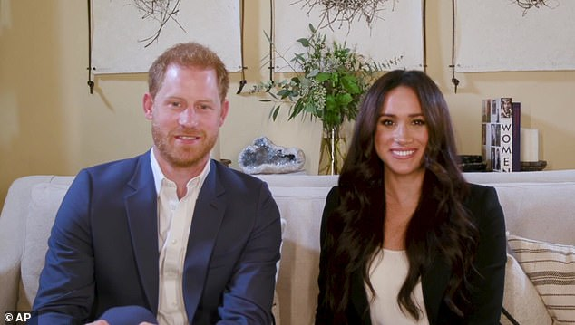 Meghan Markle and Prince Harry are pictured together on October 20