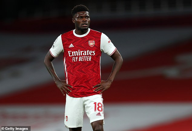 Thomas Partey will certainly miss Saturday's clash with Chelsea due to a thigh problem