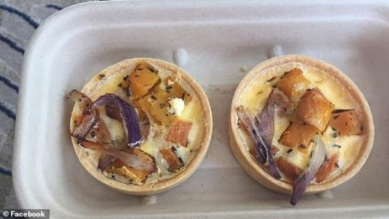 Other not-so-festive food included mini quiches with sweet potatoes and onions, and the guest said it was easily the best part of a horrible meal.