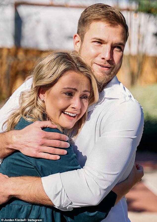 Best Christmas ever: Bachelor Nation star Jordan Kimball proposed to girlfriend Christina Creedon on Christmas Eve