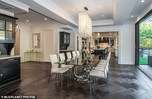 Growing family: She reportedly bought the 1.1-acre estate from rapper Doug Jordan, who offloaded the place 'after just two years of ownership at a $35,000 loss,' the outlet reported