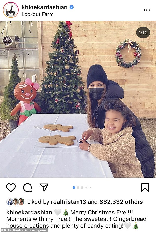 Christmas vacation: The 36-year-old recently returned home to Los Angeles from Massachusetts, where she spent Christmas with daughter True, two, and partner Tristan Thompson, 29, who recently signed a two-year contract with the Boston Celtics