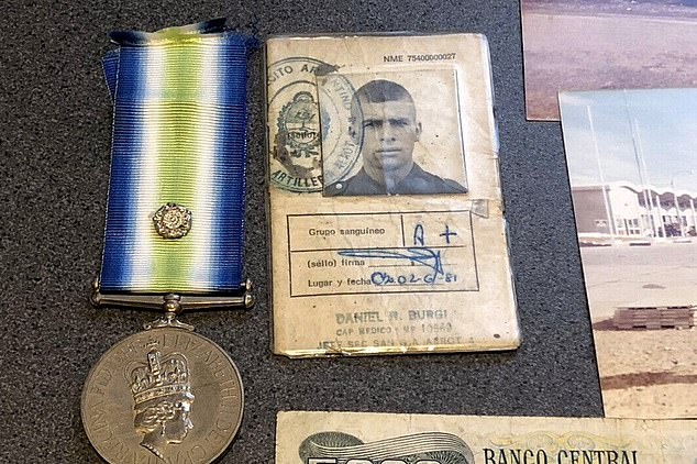 The document was sold in July by London auctioneers Dix Noonan Webb as part of a collection commemorating those who served in the 1982 war. It also included a medal owned by a British Marine