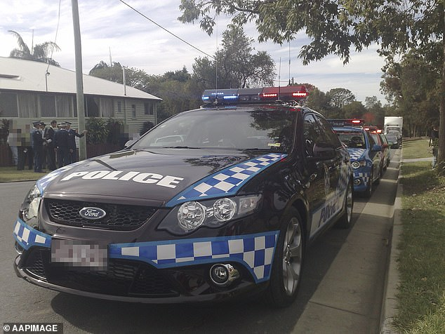 The girl's mother called police and paramedics to her unit in Annerley on November 16 at 8am.Emergency crews found the infant unconscious (pictured, police at the scene)