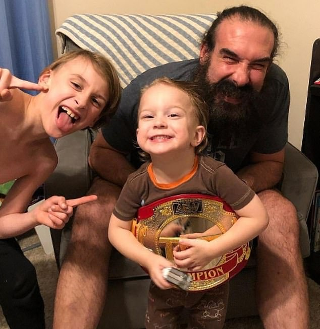 Grateful: She expressed her gratitude to All Elite Wrestling, where Jonathan began wrestling as Brodie Lee back in March, thanking them for how they 'treated not only my husband but myself and my kids'