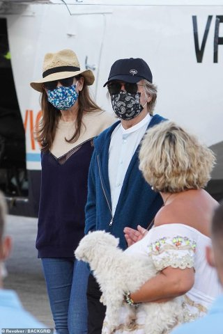 Sir Paul McCartney and wife Nancy Shevell touch down in St Barths