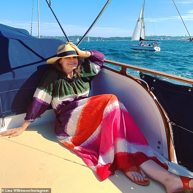 Out on the water: Lisa Wilkinson enjoyed a relaxing day out on Sydney Harbour with her family on Sunday (pictured), but was forced to part ways with one of her most cherished possessions