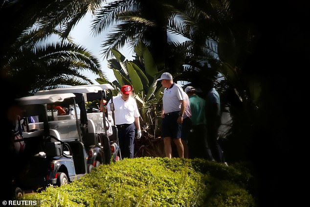Trump spent Sunday golfing at his West Palm Beach resort as he vacations in Mar-a-Lago for Christmas