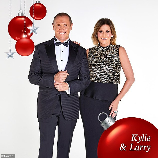 Unfortunate: After the re-calculation, Seven was able to triumph of Nine and win entertainment program of the week. Pictured: Carols in the Domain's Larry Emdur and co-host Kylie Gillies
