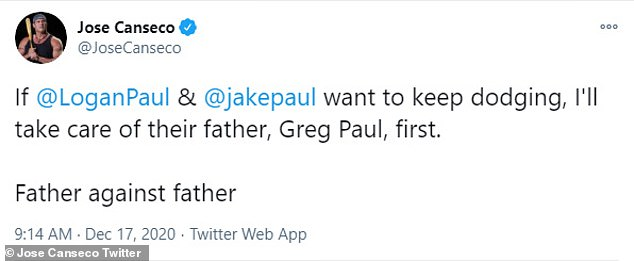 Daddy issues: He then threatened to fight the Paul brothers'  dad Greg as he continued on a tear weeks later