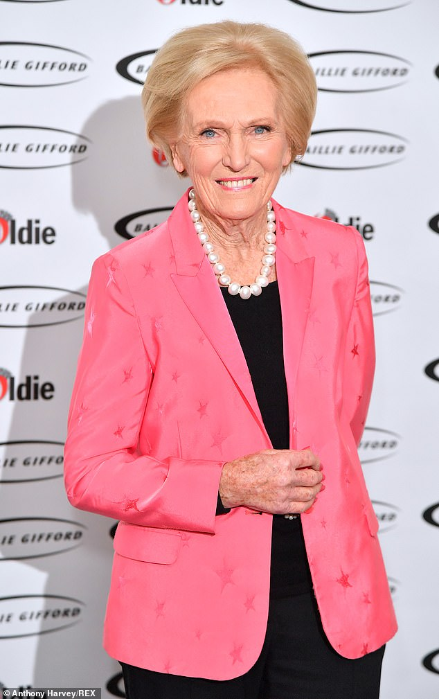 Rolling in it:Mary Berry is said to be worth £20 million after quitting The Great British Bake Off four years ago