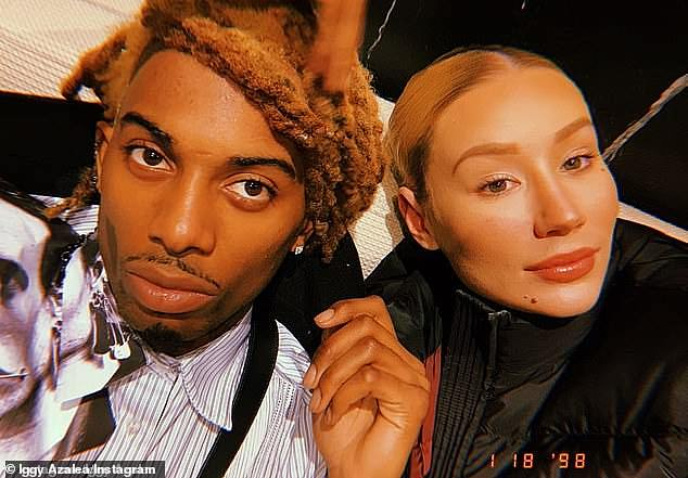 On Sunday: The tirade continued, as the Australian rapper Iggy Azalea, 30, took to her Instagram Stories with a slew of text and audio messages aimed at Playboi Carti