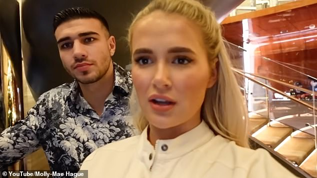 Outrage: Molly-Mae and Tommy were recently called out by YouTube viewers for not wearing masks at a restaurant on their Dubai break following the release of her vlog