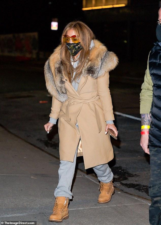 Back in the city: Jennifer Lopez was seen back in her hometown of New York City on Sunday, looking cold and bundled up after spending Christmas in Florida