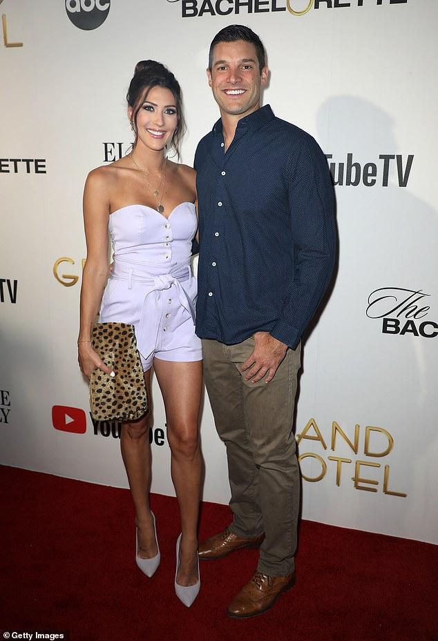 Way back when: Kufrin and her former fiance Garrett Yrigoyen were snapped in 2019 in Miami Beach, Florida