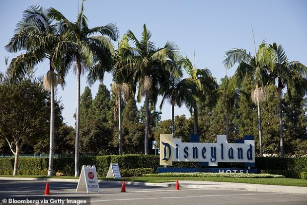 A 33-year-old Disneyland employee wrote a Facebook post on 20 December in which she stated that she had received the Pfizer BioNotech COVID-19 vaccine, even though she is not a front-line health care worker.  Disneyland Resort is seen in the above file photo in Anaheim, California