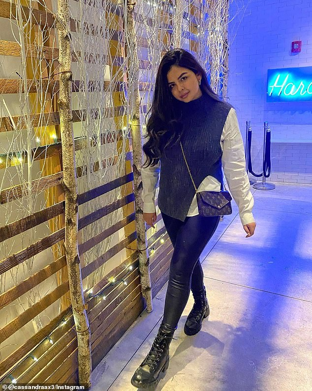 Cassandra Medina denied on her social media page that she is the woman in the video. Medina posted this image of her at the Harold's restaurant in the Arlo SoHo last week