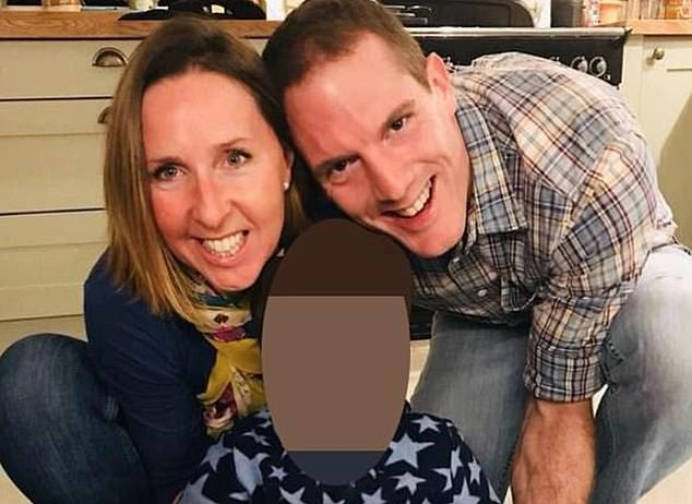 The married police constable (pictured with his wife) was found not guilty of murder, but was convicted of her manslaughter