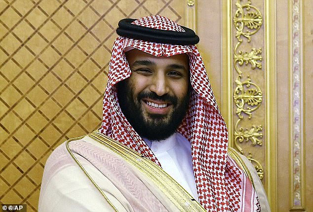 Her conviction came two and half years after her arrest in May 2018, a move which campaigners claim was timed to prevent her taking credit for the decision by Crown Prince Mohammed bin Salman (pictured) to lift the driving ban a month later