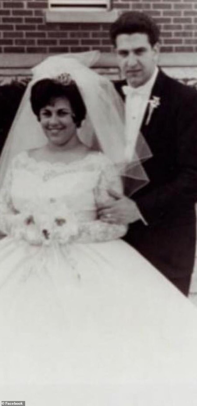 Joe Bruno shared this photo of his parents on their wedding day to celebrate one of their anniversaries