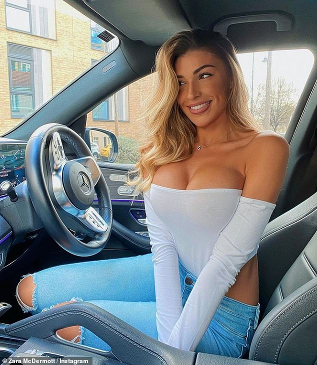 Firing back:Zara McDermott has hit back at trolls for criticising her for sharing a photo about feeling good about herself amid the UK's ongoing coronavirus restrictions
