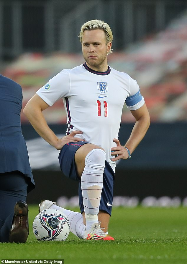 Concerns: In a new interview, Olly also expressed fears of potentially needing knee replacement surgery, with the star admitting he was 'aware' of keeping him in shape.