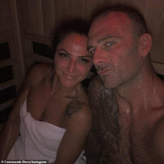 Steve 'Commando' Willis shares a shirtless selfie with his girlfriend Harika Vancuylenberg