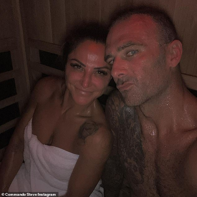 Steve 'Commando' Willis shares a shirtless selfie with his girlfriend Harika Vancuylenberg