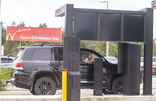 Quite the rig:Despite the casual vibe of the restaurant, the family rocked up in a brand new Toyota Land Cruiser Sahara – which is priced at least $135,000 – but with extra enhancements on the vehicle it may cost substantially more