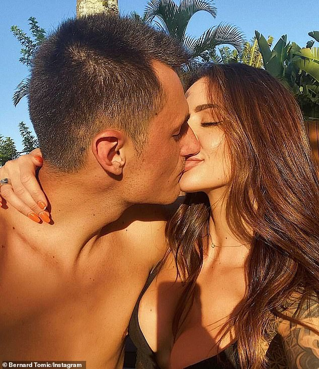 Sweet:It comes after Bernard sweetly referring to Vanessa as his 'wifey' in an Instagram post on December 5, where they were pictured kissing