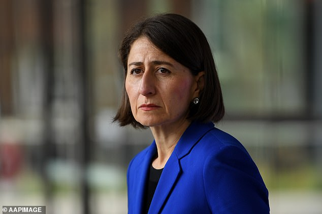 Mr Tsang's map means residents will not have to wait for official announcements by state authorities (Premier Gladys Berejiklian pictured) for the latest coronavirus updates