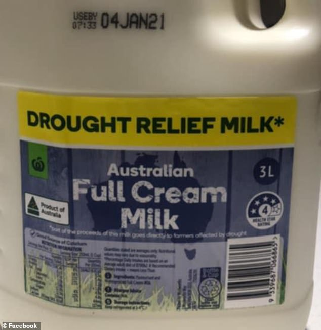 Woolworthshas urgently recalled a batch of 2L and 3L full cream milk cartons with the expiry date January 4, 2021 (pictured, Woolworths Roselands in Sydney's south-west)