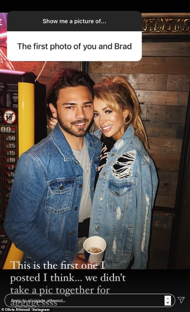 Smitten:While the reality star also shared a collection of intimate pictures with her fiancé Bradley Dack