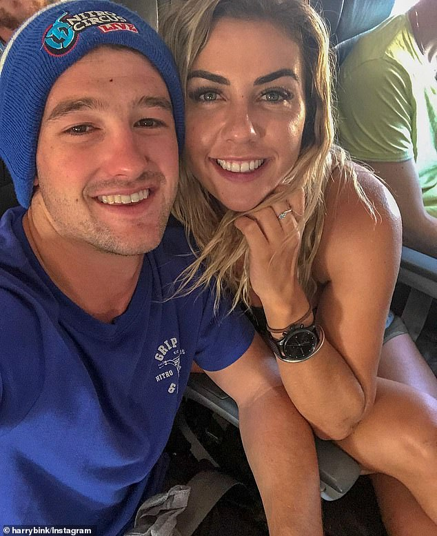 Ex appeal: More than a month after splitting from boyfriend Harry Bink, Shelby Bilby has spoken about the break up in a candid Q&A with fans on Instagram Stories [both pictured]