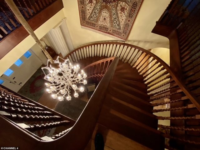The property, which offers a piece of history in every room and is now on the market for £2.995 million, also comes with a spiral staircase